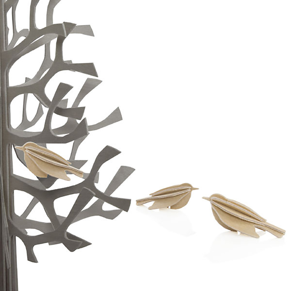 3D-palapelikortti puun värinen minilintu 5 cm