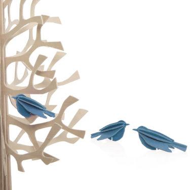 3D-palapelikortti sininen minilintu 5 cm